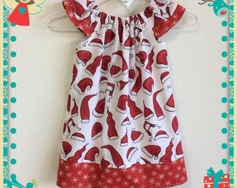 Christmas Santa Claus Handmade Flutter Sleeve Dress Size 3 Size 4