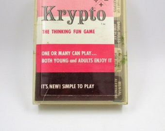 Krypto Game 1969 - Thinking Fun Game - Math Card Game - Arithmetic Game - Strategy Card Game - West Germany Hourglass Timer - Yovich