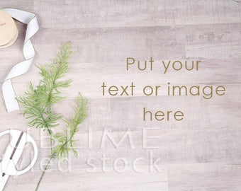 Styled Stock Photography / Styled Desk / Digital Background / Wood Background / Ribbon / Stock Photo / Image Background / StockStyle-850