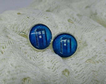 Police Box Cuff Links - Doctor Who Inspired