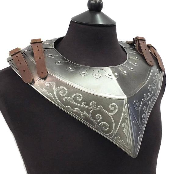 Larp Armor, Paladin Gorget, skyrim, LOTR, fantasy armor, cosplay armor, elven armor