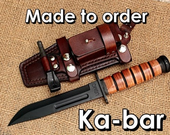 Ka-bar Leather sheath Made to order