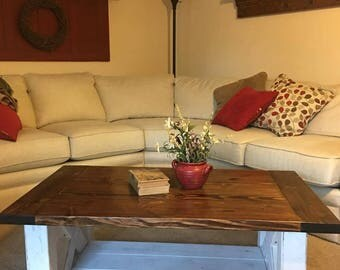 chunky coffee table | etsy