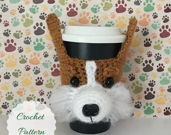Dog Crochet Pattern - Mug Cozy Pattern - Amigurumi Dog - Crocheting Patterns - Crochet Pattern Dog - Crochet Dog Pattern - Dog Amigurumi