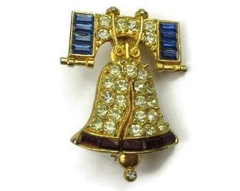 Rafaelian Liberty Bell Brooch