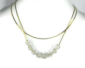 Vintage Crystal Bead Necklace