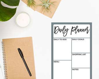 Daily Planner Pad / Daily Planner Notepad / Productivity Planner / Daily Schedule / Daily Organizer / Day Planner / Daily To Do List
