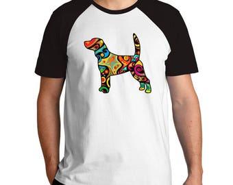 Psychedelic Beagle Raglan T-Shirt