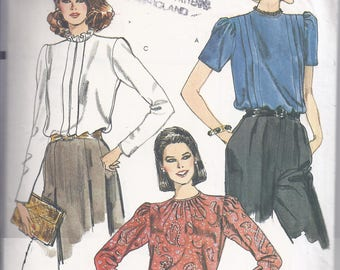 Vogue 8137  from late 1970's.  Misses Loose fitting,  pullover Blouse.  Bust 34