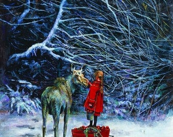 Winter's Child Limited Edition Giclee' print on canvas