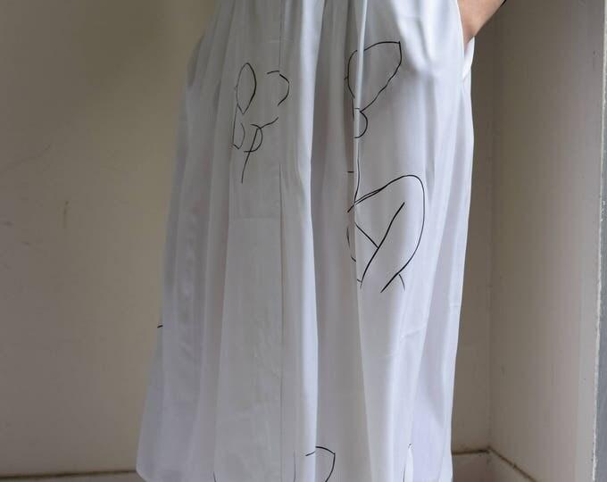 White High Waist Nudie Skirt