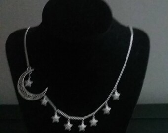 Vesper Moon and Star Necklace