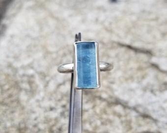 Aquamarine gemstone 925 sterling silver ring