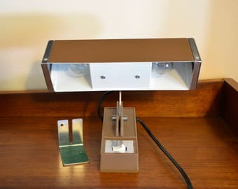 Vintage Mid Century Mobilite Clip On Bed Headboard Lamp