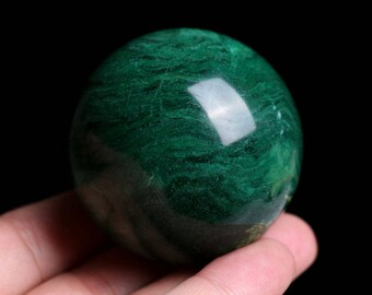 Natural African Green Jade Crystal Sphere Ball Healing, Crystals and Minerals , Wiccan Pagan Crystal J847