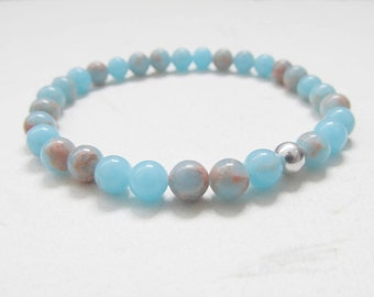 Sea sediment jasper bracelet, gemstone bracelet, yoga bracelet
