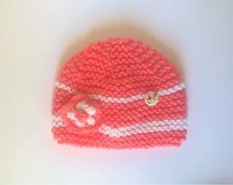 Beanie Baby Pink knit newborn 0/3 months - baby girl