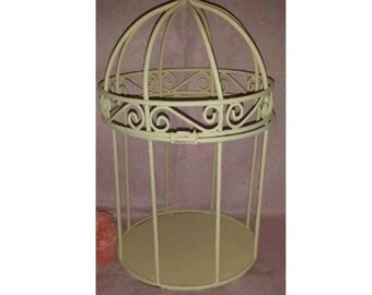 Vintage Shabby Chic Bird Cage, Upcycled, Wrought Iron Bird Cage, Dome Shaped Metal Bird Cage,Wedding, Card BOX, Wedding Reception, Cottage