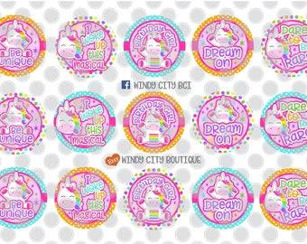 Unicorn Birthday Bottle Cap Images