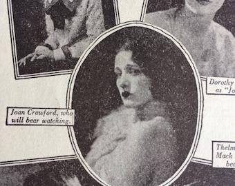 Vintage Antique Joan Crawford Mini LA Times Film Magazine 1930's 1940's Hollywood, CA Movie Stars