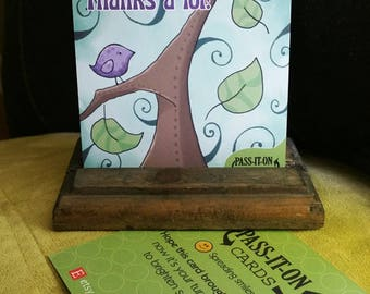 Set of 3: Pass-it-on cards - these little cards are designed to spread some happiness (art, greeting, birthday, thank-you, fun cards)