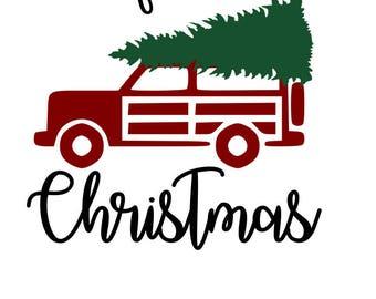 Old fashioned Jeep Christmas Tree SVG File, Quote Cut File, Silhouette File, Cricut File, Vinyl Cut File