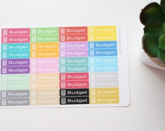 Budget Stickers 28 Multi Colors For Planner