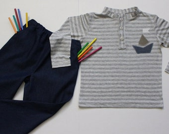 boys outfit size 4T shirt and pants set