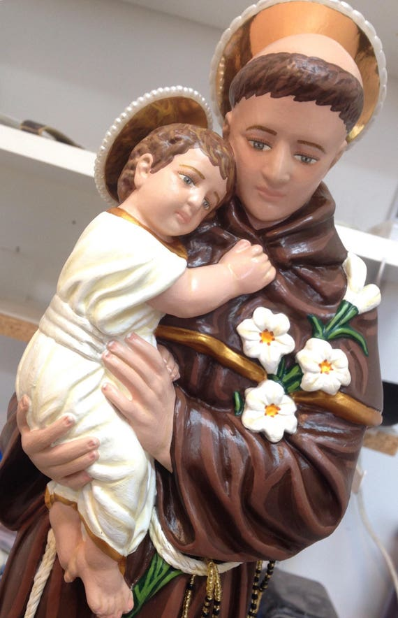 "St. Anthony of Padua 18"" Patron of Lost Articles and Lost Souls"
