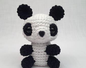 Crochet amigurumi Panda toy, Stuffed Toy, Plush, softy, Plushie, Stuffed Animal, Toy, Stuffed panda, baby toy, Baby Shower Gift