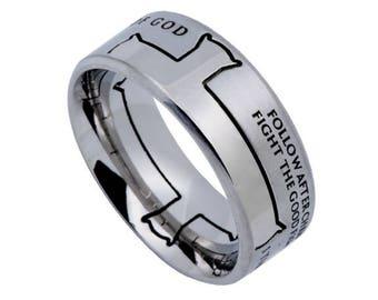 "Iron Cross Ring ""Man Of God"""
