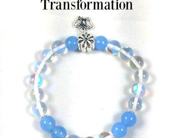 Angel Aura, Celestite and Butterfly Bracelet:  One of a kind, comes with a message of healing from your Guardian Angel
