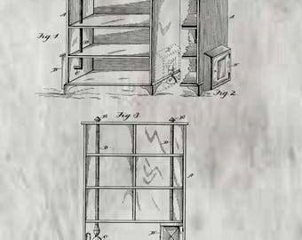 Cupboard or Kitchen Cabinet Patent #327701 dated October 6, 1885.