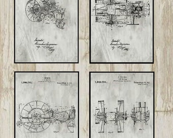 Group of Four Farm Patents #1,240,761 dated September 18, 1917. Available in various sizes and backgrounds.