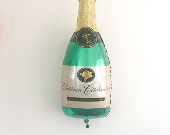 Champagne Balloon Engagement Party Bridal Shower Balloons Pop Fizz Clink New Years Eve Decor Champagne Bottle Balloon Bachelorette Birthday