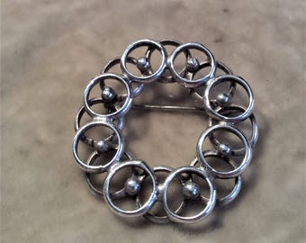 Sterling Silver Circle Pin
