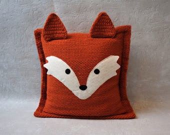 fox pillows, cushion cover, fox pillow case, decorative pillows, eco-friendly cushion, custom pillow, personalized gift, gift for her
