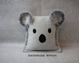 Koala pillow, decorative pillows, throw pillow, nursery decor, gift idea, housewarming gift, vacation home decor, birthday gift, best seller
