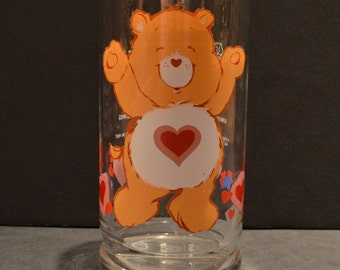 Vintage Pizza Hut Care Bear Glass -Tender Heart Bear
