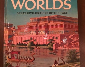 The Golden Book of Lost Worlds: Great Civilizations of the Past, illustrated vintage 1963 children's book