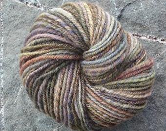 Hand Spun Hand Dyed Rambouillet Yarn