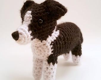 Border Collie - Crocheted Dog