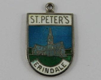 Enamel St. Peter's Erindale Sterling Silver Vintage Charm For Bracelet