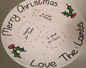 Personalised Santa Snack plates