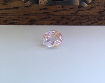 Kunzite 11x9mm 5.43 carats Oval Cut Pink Spodumene Faceted Gem Loose gemstone Unmounted Tested Natural millimeters cts For Ring or Pendant