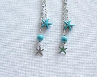 Earrings, earrings, starfish