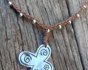 50 style one necklace, butterfly boho necklace