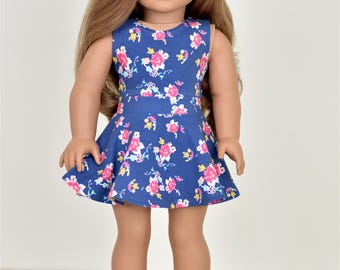 Skater Skirt Color Pink 18 inch doll clothes