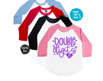 Double Digits Birthday Shirt - 10 Year Old - Girls' Birthday Shirt - 10th Birthday - TEN - Double Digit Club - Birthday Outfit - I'm 10