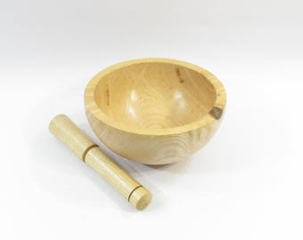 Useful and decorative country wooden pestle